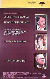 A DRY WHITE SEASON original issue rolled 1-sheet movie poster