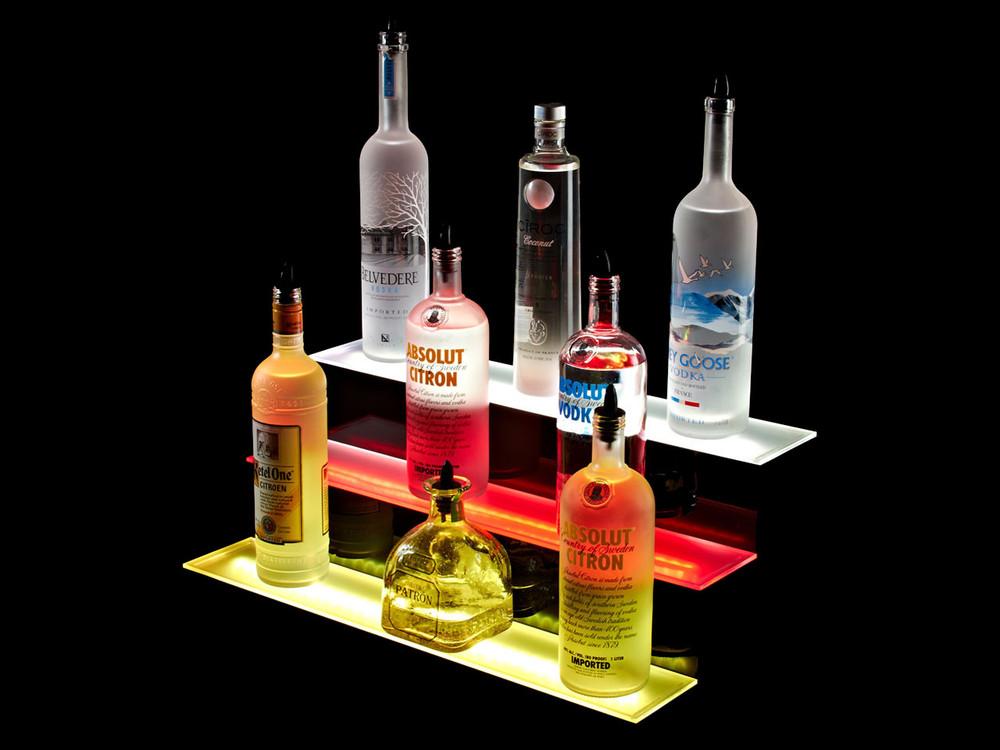 3 Tier LED Liquor Shelf Display