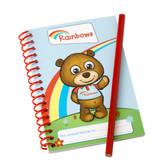 Rainbows Notepad and Pencil Set