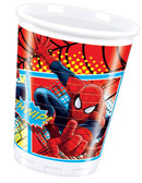 Ultimate Spiderman Plastic Cups 200ml - 8 Pack