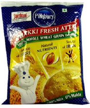 Whole wheat grain has three main partsbran, endosperm & germ. All the three parts function together to provide you multiple benefits and help you stay healthy. Pillsbury chakki fresh atta contains the three parts of whole wheat grain to give you wholesome nourishment just the way nuture interded it to be. whole grain foods have natural nutrients that are important for growing children & aduits.  100% whole wheat grain benefit Source of fibre Natural nutrients Source of iron 100% atta 0% Maida