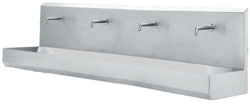 Hand Wash Basin - Wall mounted, 4 station