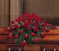 All Red Rose Casket Spray