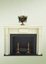 Decorated Fireplace with Candleabrum