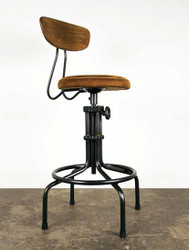 Umber leather Counter Stool