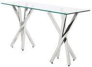 High polish stainless steel Console Table