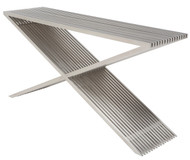 Brushed stainless steel 61 x 17 x 31 Console Table