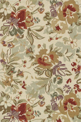 "5'-0"" x 7'-6"" 100% Polyester Ivory"