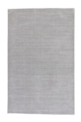 5' x 8' Area Rug Rectangle Gray Silver Basis BI02 Handmade Hand-Loomed Contemporary