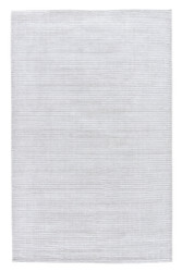 8' x 10' Area Rug Rectangle Light Gray Basis BI03 Handmade Hand-Loomed Contemporary