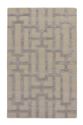 "3'6"" x 5'6"" Area Rug Rectangle Gray Taupe City Dallas CT09 Handmade Hand-Tufted"