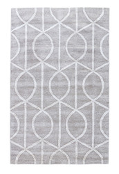 2' x 3' Area Rug Rectangle Gray White City Seattle CT14 Handmade Hand-Tufted
