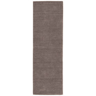 "2'6"" x 8' Area Rug Runner Dark Gray Elements EL02 Handmade Hand-Loomed Contemporary"