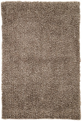"5' x 7'6"" Area Rug Rectangle Brown Flux FL09 Machine Made Shag and flokati Contemporary"