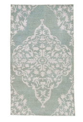 2' x 3' Area Rug Rectangle Silver Green Heritage Chantilly HR01 Handmade Hand-Knotted