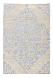 8' x 11' Area Rug Rectangle Silver Ivory Heritage Chantilly HR05 Handmade Hand-Knotted