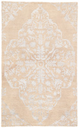 9' x 13' Area Rug Rectangle Beige Silver Heritage Chantilly HR07 Handmade Hand-Knotted
