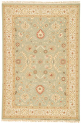10' x 14' Area Rug Rectangle Green Gold Jaimak Kolos JM09 Handmade Hand-Knotted