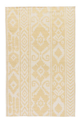 5' x 8' Area Rug Rectangle Yellow Cream Urban Bungalow Farid UB16 Handmade Dhurrie