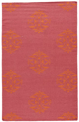 8' x 10' Area Rug Rectangle Pink Orange Maroc Nada MR15 Handmade Dhurrie Contemporary