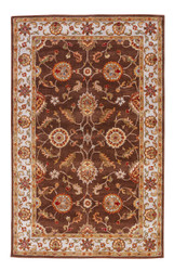 4' x 6' Area Rug Rectangle Brown Gold Mythos Maia MY01 Handmade Hand-Tufted Traditional