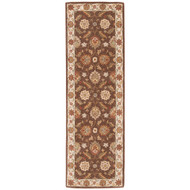"2'6"" x 6' Area Rug Runner Brown Gold Mythos Maia MY01 Handmade Hand-Tufted Traditional"