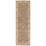"2'6"" x 10' Area Rug Runner Green Beige Mythos Callisto MY06 Handmade Hand-Tufted"