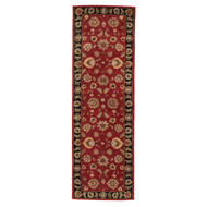 4' x 16' Area Rug Runner Red Black Mythos Anthea MY08 Handmade Hand-Tufted Traditional