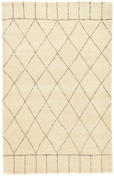 2' x 3' Area Rug Rectangle Ivory Brown Nostalgia Tangier NS02 Handmade Hand-Knotted