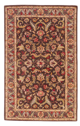 2' x 3' Area Rug Rectangle Brown Multicolor Poeme Gascony PM39 Handmade Hand-Tufted