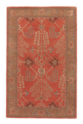 5' x 8' Area Rug Rectangle Orange Brown Poeme Chambery PM51 Handmade Hand-Tufted