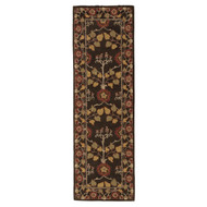 "2'6"" x 8' Area Rug Runner Brown Multicolor Poeme Rodez PM58 Handmade Hand-Tufted"