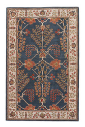 2' x 3' Area Rug Rectangle Blue Multicolor Poeme Chambery PM82 Handmade Hand-Tufted