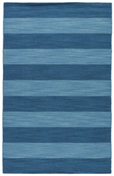 5' x 8' Area Rug Rectangle Blue Pura Vida Tierra PV36 Handmade Dhurrie Transitional