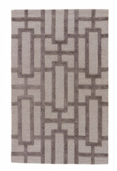 "3'6"" x 5'6"" Area Rug Rectangle Light Gray City Dallas CT36 Handmade Hand-Tufted"