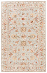 "3'6"" x 5'6"" Area Rug Rectangle Blue Tan Poeme Abralin PM104 Handmade Hand-Tufted"