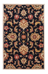 8' x 10' Area Rug Rectangle Black Tan Mythos Abers MY11 Handmade Hand-Tufted Traditional
