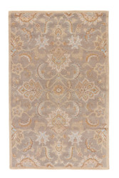 4' x 8' Area Rug Rectangle Gray Beige Mythos Abers MY14 Handmade Hand-Tufted Traditional