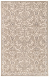5' x 8' Area Rug Rectangle Gray Poeme Corsica PM121 Handmade Hand-Tufted Traditional
