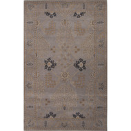 2' x 3' Area Rug Rectangle Gray Tan Poeme Chambery PM126 Handmade Hand-Tufted