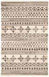 2' x 3' Area Rug Rectangle Cream Gray Bristol Elan BRI08 Handmade Hand-Tufted Moroccan