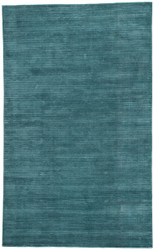8' x 10' Area Rug Rectangle Blue Basis BI20 Handmade Hand-Loomed Contemporary