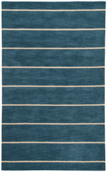 8' x 10' Area Rug Rectangle Blue Beige Coastal Dunes Ketch COD03 Handmade Hand-Tufted
