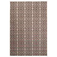 5' x 8' Area Rug Rectangle White Dark Brown Urban Bungalow Melina UB38 Handmade Dhurrie