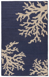 5' x 8' Area Rug Rectangle Blue White Urban Bungalow Ocean Side UB40 Handmade Dhurrie
