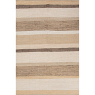 8' x 10' Area Rug Rectangle Brown White Andy Pueblo AND01 Handmade Flat-Woven Coastal