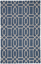 8' x 11' Area Rug Rectangle Blue Silver City Bellevue CT74 Handmade Hand-Tufted