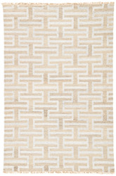 2' x 3' Area Rug Rectangle Silver Taupe Prescot Holmes PRC02 Handmade Dhurrie
