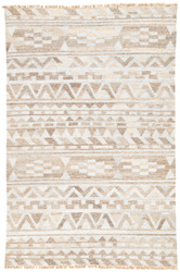 9' x 12' Area Rug Rectangle Gray Prescot Landcaster PRC01 Handmade Dhurrie Transitional
