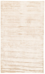 2' x 3' Area Rug Rectangle Beige Yasmin YAS01 Handmade Hand-Loomed Glam Contemporary Solid